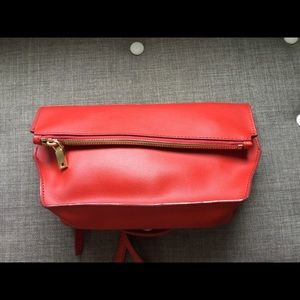 🆕J. Crew Bennett Red Crossbody Clutch Leather Bag